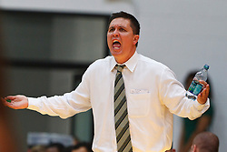 Nov 16, 2011; San Francisco CA, USA;  San Francisco Dons head coach Rex Walters argues a call on the sidelines against the San Jose State Spartans during the second half at War Memorial Gym.  San Francisco defeated San Jose State 83-81 in overtime. Mandatory Credit: Jason O. Watson-US PRESSWIRE