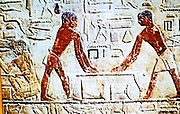 Carpenters at work: wall painting from the mastaba (tomb) of Ti. Early 5th Dynasty. Sakkara (Saqqara)