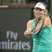 March 7, 2015, Indian Wells, California:<br /> CoCo Vandeweghe plays during the McEnroe Challenge for Charity presented by Masimo in Stadium 2 at the Indian Wells Tennis Garden in Indian Wells, California Saturday, March 7, 2015.<br /> (Photo by Billie Weiss/BNP Paribas Open)