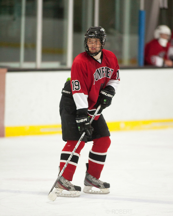 Pomfret School-February 2013- Boys Varsity Hockey. (Photo by Robert Falcetti)