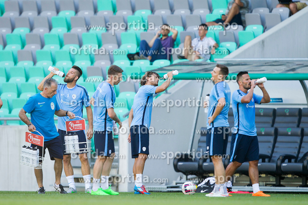 Players during practice session of Slovenian National Football Team before Euro 2016 Qualifications match against Switzerland, on September 1, 2015 in SRC Stozice, Ljubljana, Slovenia. Photo by Urban Urbanc / Sportida