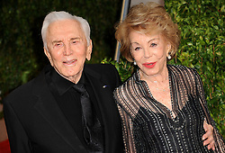 Kirk Douglas Dies At 103 - Kirk Douglas and Anne Buydens arriving at the Vanity Fair Oscar Party 2010, held at the Sunset Tower in Los Angeles, CA, USA on March 07, 2010. Photo by Mehdi Taamallah/ABACAPRESS.COM (Pictured: Kirk Douglas, Anne Buydens)