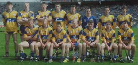 All Ireland Senior Hurling Championship - Final, .14.09.1997, 09.14.1997, 14th September 1997, .14091997AISHCF,.Senior Clare v Tipperary .Tipperary 2-16, Wexford 0-15,.Minor Clare v Galway, .Supermac's, ..Clare Minor Team, back row, left to right, Stiofain Fitzpatrick, Kenneth Kennedy, John Reddan, Mark Lennon, Joe O'Meara, Ger O'Connell, Wayne Kennedy, Gordon Malone, Front row left to right, Donal Madden, Gearoid Considine, Brian McMahon, Colm Mullen, Conor Earley, Brian McMahon, Paul Collins,