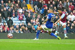 Aston Villas Scott Sinclair scores. - Photo mandatory by-line: Alex James/JMP - Mobile: 07966 386802 - 15/02/2015 - SPORT - Football - Birmingham - Villa Park - Aston Villa v Leicester City - FA Cup - Fifth Round