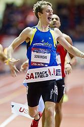 Millrose Games indoor track and field: Erik Sowinski, men's 600 meters, winner, American record