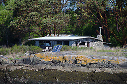 Cabin with Solar Panels, Shaw Island, San Juan Islands, Washington, US