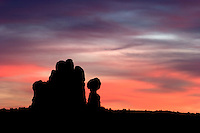 Balanced Rock at Sunset, Arches National Park, Utah