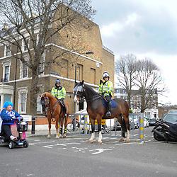 Police near Stamford Bridge before Chelsea vs Crystal Palace, Premier League , 01.04.17 (c) Harriet Lander | SportPix.org.uk
