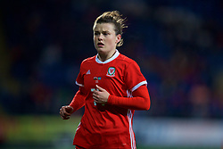CARDIFF, WALES - Friday, November 24, 2017: Wales' Hayley Ladd during the FIFA Women's World Cup 2019 Qualifying Round Group 1 match between Wales and Kazakhstan at the Cardiff City Stadium. (Pic by David Rawcliffe/Propaganda)