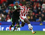 Stoke City's Kurt Zouma and Bournemouth's Benik Afobe