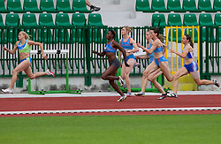 Sabina Veit, Merlene Ottey, Pia Tajnikar, Kristina Zumer during women 100m finals at Slovenian National Championships in athletics 2010, on July 17, 2010 in Velenje, Slovenia. (Photo by Vid Ponikvar / Sportida)