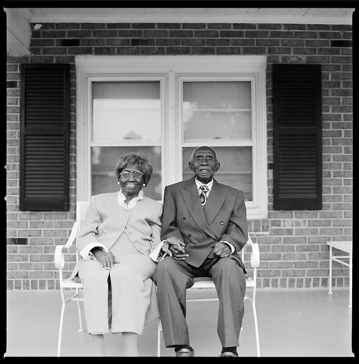 Herbert and Zelmyra Fisher, World Record Holders for Longest Marriage for a Living Couple, New Bern, N.C., 2009. The two were married May 13, 1924.