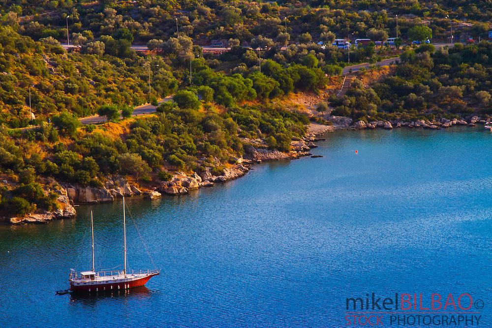 Coastline. Kas. Antalya province, mediterranean coast. Turkey.