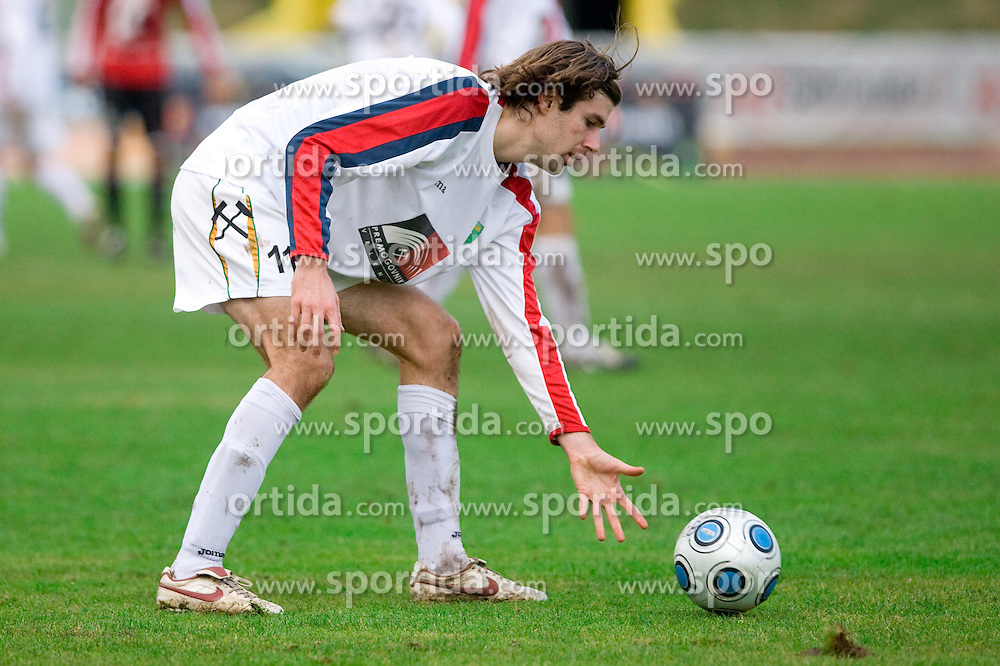 Petar Stojnic of Rudar at football match of Round 17 of Slovenian first league between NK Interblock and NK Rudar Velenje,  on November 7, 2009, in ZAK, Ljubljana, Slovenia.  Interblock won 3:1. (Photo by Vid Ponikvar / Sportida)