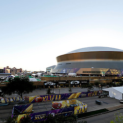 Jan 30, 2013; New Orleans, LA, USA; A general view of the Mercedes-Benz Superdome. Super Bowl XLVII will be played between the San Francisco 49ers and the Baltimore Ravens on February 3, 2013 at the Mercedes-Benz Superdome. Mandatory Credit: Derick E. Hingle-USA TODAY Sports