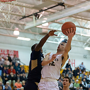 Pittsburgh, PA - February 23:  During the quarterfinal WPIAL basketball championship game between Quaker Valley High School and Knoch High School at North Hills Middle School on February 23, 2019 in Pittsburgh, PA. The Quakers went on to win 49-43, improving their record to 19-3 on the year and has now won a WPIAL playoff game for the 12th consecutive year. They have now also qualified for the PIAA playoffs in 8 straight years. (Photo by Shelley Lipton)