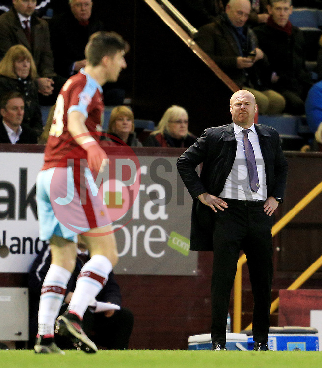 Burnley Manager Sean Dyche looks disappointed - Mandatory by-line: Matt McNulty/JMP - 05/04/2016 - FOOTBALL - Turf Moor - Burnley, England - Burnley v Cardiff City - SkyBet Championship
