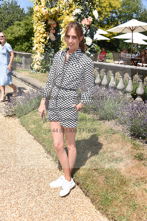 Lady Alice Manners at the 'Cartier Style et Luxe' enclosure during the Goodwood Festival of Speed, Goodwood House, West Sussex, England. 15 July 2018.