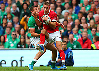 Rugby Union - 2019 pre-Rugby World Cup warm-up (Guinness Summer Series) - Ireland vs. Wales<br /> <br /> Liam Williams (Wales) in action against Garry Ringrose (Ireland) at The Aviva Stadium.<br /> <br /> COLORSPORT/KEN SUTTON