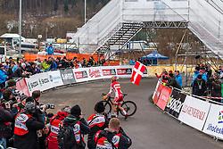 Winner: Simon Andreassen (DEN), Men Juniors, Cyclo-cross World Championships Tabor, Czech Republic, 31 January 2015, Photo by Pim Nijland / PelotonPhotos.com