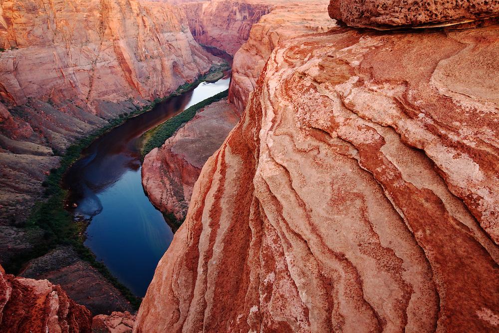 The Colorado River in Glen Canyon, Arizona.