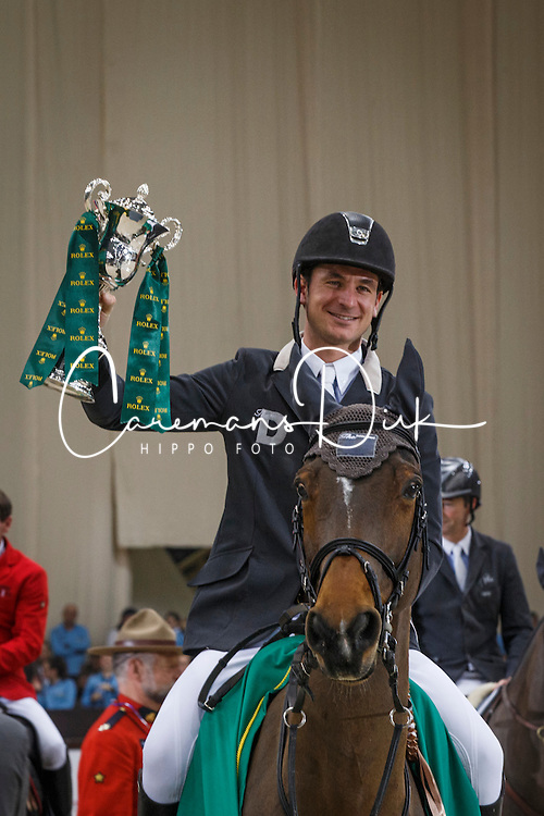Guerdat Steve (SUI) - Nino des Buissonnets<br /> Winner of the Grand Prix Rolex<br /> CHI Geneve 2013<br /> © Dirk Caremans