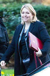London, January 16 2018. Secretary of State for Northern Ireland Karen Bradley attends the UK cabinet meeting at Downing Street. © Paul Davey