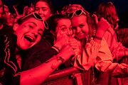 Henham Park, Suffolk, 19 July 2019. Fans watch as George Ezra plays the Obelisk Stage - The 2019 Latitude Festival.