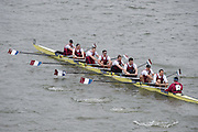 London, Great Britain.<br /> Oxford Brookes II competing in the <br /> 2016 Head of the River Race, Reverse Championship Course Mortlake to Putney. River Thames. Saturday  19/03/2016<br /> <br /> [Mandatory Credit: Peter SPURRIER;Intersport images]