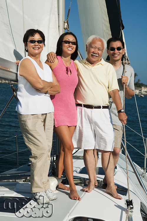 Family Together on Sailboat