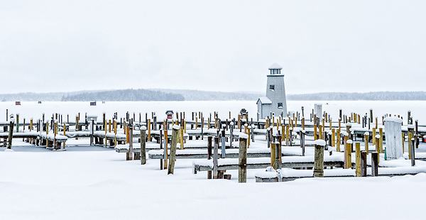 Lighthouse in Moultonborough on Lake Winnipesaukee.  <br />