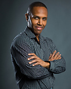 Headshot for male African-American actor.