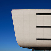 AFRGI office building curved white facade, Centurion, Johannesburg, South Africa. Paragon Architects