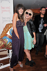 Left to right, SARAH OWEN and JAIME WINSTONE at a party to celebrate the launch of the Lucy in Disguise Ready to Wear collection exclusive to Harvey Nichols, held at The Fifth Floor Restaurant, Harvey Nichols, Knightsbridge, London on 25th May 2011.