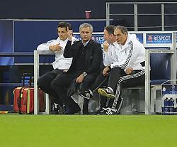 Chelsea Manager, Jose Mourinho gestures - Photo mandatory by-line: Joe Meredith/JMP - Tel: Mobile: 07966 386802 22/10/2013 - SPORT - FOOTBALL - Veltins-Arena - Gelsenkirchen - FC Schalke 04 v Chelsea - CHAMPIONS LEAGUE - GROUP E