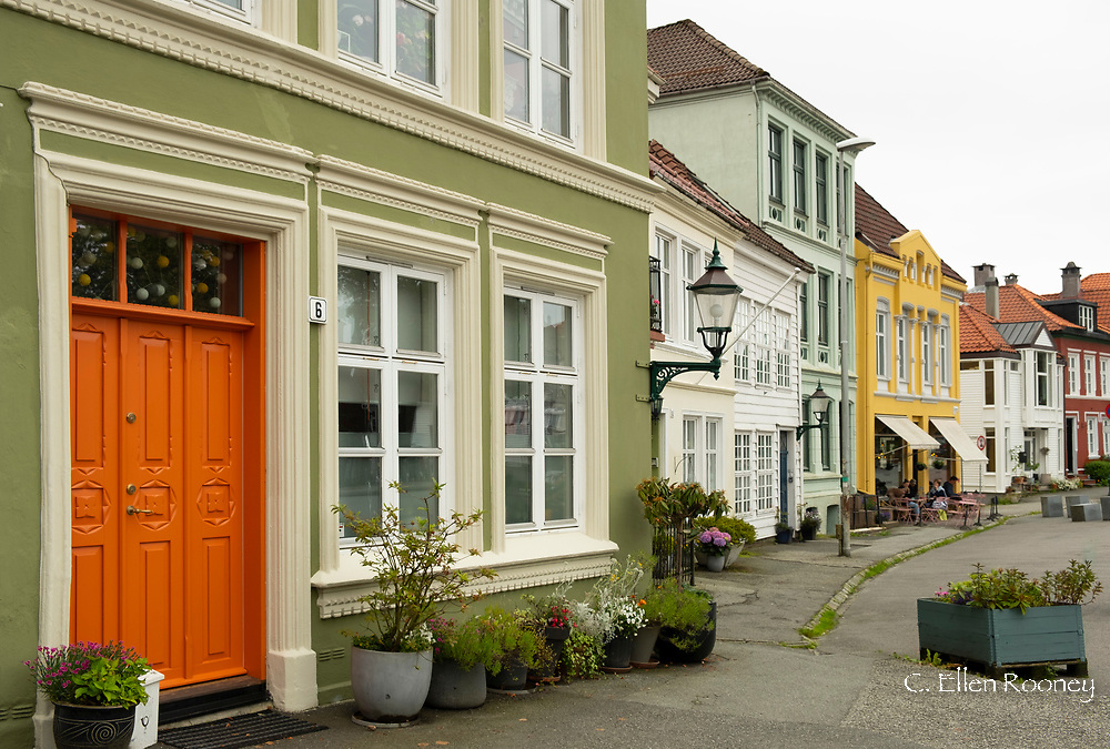 Colourful old houses in Nordness,  Bergen, Norway, Scandanavia, Europe