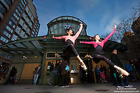 Ballerinas at 72nd Street Subway Station New York City- Dance As Art Photography Project featuring Sylvana Tapia and Natalie Walters