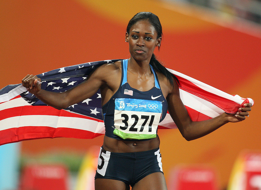2008 Beijing Olympic Games- Day 6 - August 20th- Evening *** Sheena Tosta, USA, 400m hurdles *** Day 6