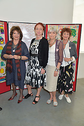 Left to right, LADY ASHCOMBE, CAMILLA LOWTHER, LADY ANNE LAMBTON and JANE ORMSBY GORE at a lunch in aid of the charity African Solutions to African Problems (ASAP) held at the Louise T Blouin Foundation, 3 Olaf Street, London W11 on 21st May 2014.