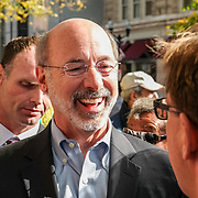 Lancaster, PA, USA - November 3, 2014: Democrat Candidate Tom Wolf makes a campaign stop and speaks with supporters the day before he was elected Governor of Pennsylvania.