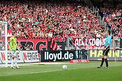 13.08.2011, easy Credit Stadion, Nuernberg, GER, 1.FBL, 1. FC Nürnberg / Nuernberg vs , im Bild:.Ron-Robert Zieler (Hannover #1) bekommt gelbe Karte fuer Spielverzoegerung.// during the Match GER, 1.FBL, 1. FC Nürnberg / Nuernberg vs  on 2011/08/13, easy Credit Stadion, Nuernberg, Germany..EXPA Pictures © 2011, PhotoCredit: EXPA/ nph/  Will       ****** out of GER / CRO  / BEL ******