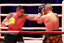13.04.2019, Erste Bank Arena, Wien, AUT, Bounce Fight Night, Mittelgewicht, Marcos Nader (AUT) vs Gogi Knezevic (AUT), im Bild v.l. Marcos Nader und Gogi Knezevic // during Middleweight, with the fight betweeb Marcos Nader of Austria vs Gogi Knezevic of Austria of the Bounce Fight Night at the Erste Bank Arena in Wien, Austria on 2019/04/13. EXPA Pictures © 2019, PhotoCredit: EXPA/ Thomas Haumer
