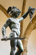 Perseus and Medusa statue at Loggia dei Lanzi, Florence, Tuscany, Italy