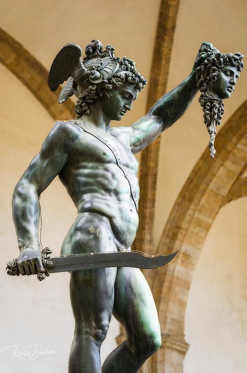 Perseus and Medusa statue at Loggia dei Lanzi, Florence, Tuscany, Italy