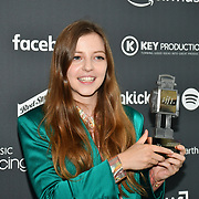 Jade Brid receive awards at AIM Independent Music Awards at the Roundhouse on 3 September 2019, Camden Town, London, UK.