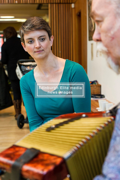 Pictured: Maggie Chapman<br /> <br /> Greens co-convenor Maggie Chapman visited TradFest, a traditional arts festival, which opened in Edinburgh today and learnt more about the importance of culture to our society and our economy, looking at the tourism potential of festivals and how technology can enable this.<br /> <br /> Ger Harley | EEm 27 April 2016