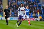 Rotherham United Defender, Shaun Cummings (25) during the EFL Sky Bet League 1 match between Portsmouth and Rotherham United at Fratton Park, Portsmouth, England on 3 September 2017. Photo by Adam Rivers.