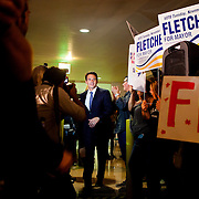 Mayoral candidate Nathan Fletcher greets supporters on election night.