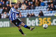 Sheffield Wednesday vice captain Barry Bannan shot on goal is saved during the EFL Sky Bet Championship match between Sheffield Wednesday and Bristol City at Hillsborough, Sheffield, England on 22 December 2019.