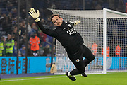 Danny Ward (12) during warm up before the Premier League match between Leicester City and West Ham United at the King Power Stadium, Leicester, England on 22 January 2020.